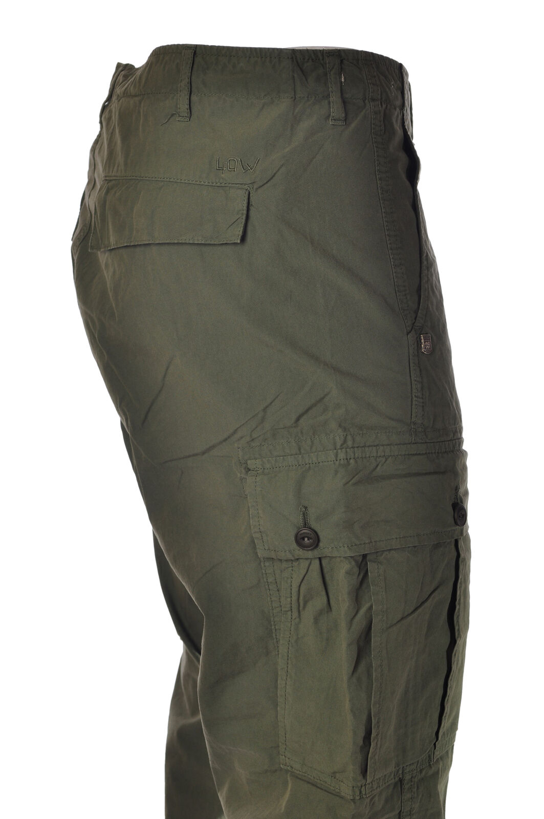 40 Weft - Jeans-straight leg Pants - Man - Green - 3539308C190748