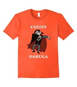 14f489b7 Image is loading Count-Dabula-Dracula-Halloween-Dabbing-Cotton-Funny-T-
