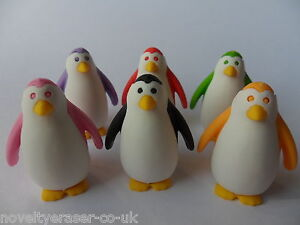 IWAKO Japanese Animal Puzzle Eraser Rubbers - IWAKO Penguin Erasers