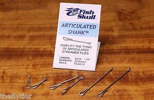 Fish Skull USA Articulated Shank 20 Pack 20mm 55mm Articulated Shank 35mm