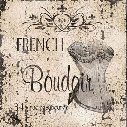 French Boudoir Keilrahmen-Bild Leinwand Mode Stillleben Shabby Carol Robinson