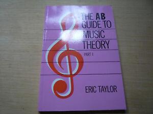 Audacieux Ab Guide To Music Theory Part 1 Eric Taylor-afficher Le Titre D'origine Jouir D'Une RéPutation éLevéE Chez Soi Et à L'éTranger