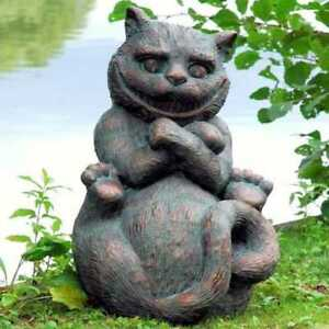 cat garden statue. image is loading cheshire-cat-from-alice-039-s-adventures-in- cat garden statue
