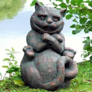 Cheshire cat from alice 39 s adventures in wonderland - Alice in wonderland garden statues ...
