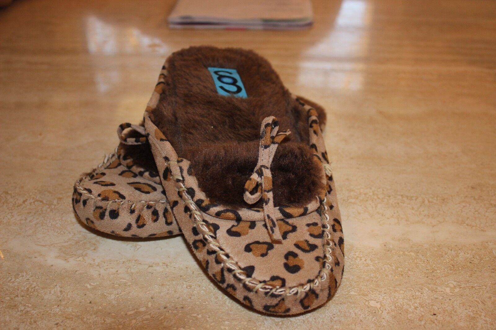 Ladies Genuine Sheepskin and Suede Slide On Slippers Size L (8/9 US) SAMPLE NEW