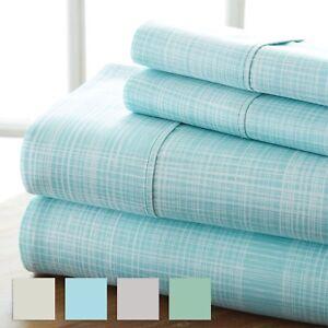 Premium-Ultra-Soft-Thatch-Pattern-4-Piece-Bed-Sheet-Set-Hotel-Collection