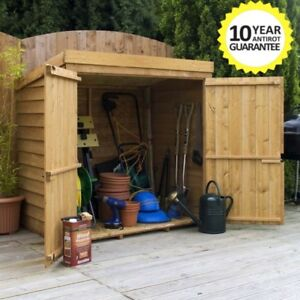 Image Is Loading WOODEN GARDEN STORAGE SHED 5ft X 3ft TOOL