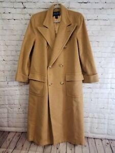 stylish design exclusive deals select for original Details about LAUREN RALPH LAUREN 100% Camel Hair Double Breasted Long Coat  Womens 10