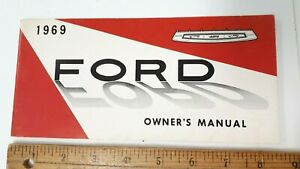 1969-FORD-Full-Size-Original-Owner-039-s-Manual-Excellent-Condition-US