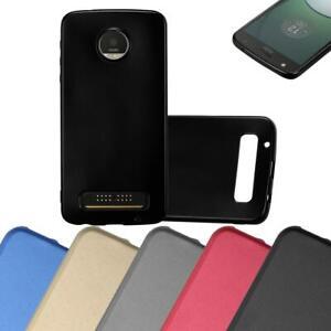 Custodia-Cover-Silicone-per-Motorola-MOTO-Z-PLAY-TPU-Case-Metallico-Opaco