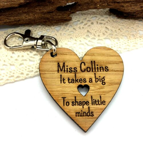 Heart Keyring Year Gift Personalised Teacher End of Term Teaching Assistant