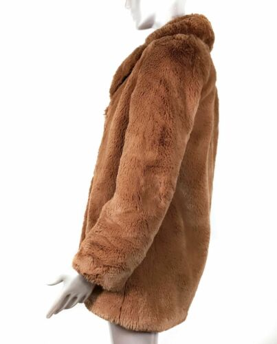 NWT ZARA TEXTURED LAPEL JACKET FAUX FUR COAT TEDDY COAT BLAZER ✅ Rare Size M