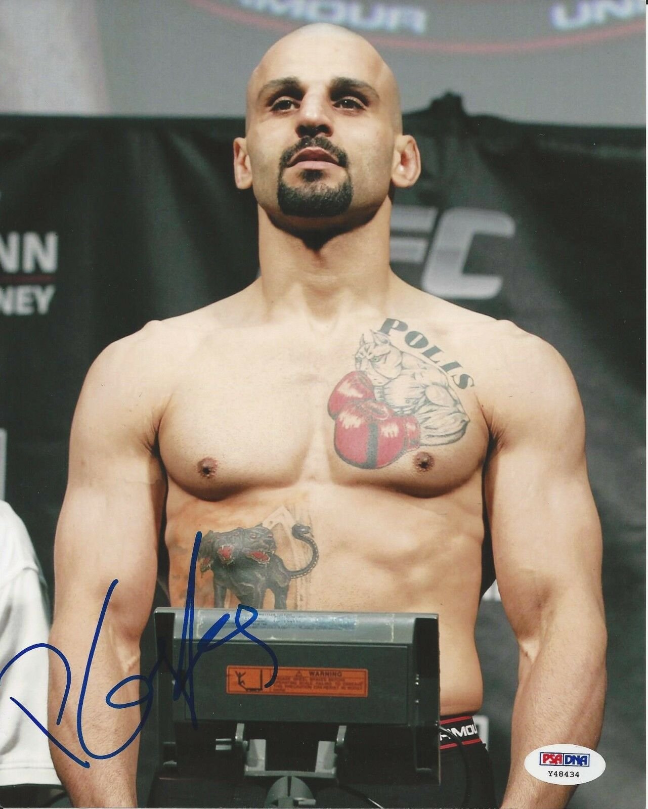 Costas Philippou UFC Fighter signed 8x10 photo PSA/DNA # Y48434