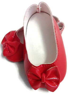 Red Bow Jewel Shoes fit American Girl Doll 18 Inch Clothes Seller lsful
