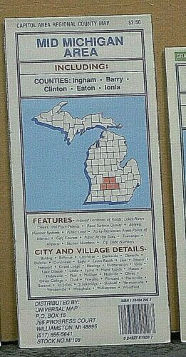 1990/'s Universal Street Map of the Mid Michigan Area