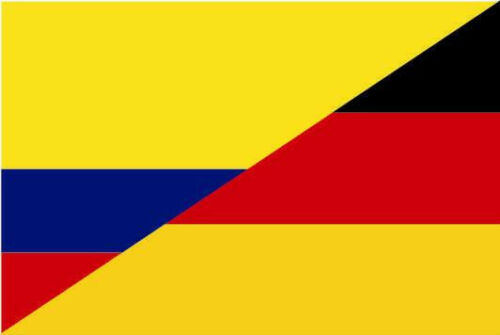 Fahne Flagge Kolumbien-Deutschland Freundschaftsflagge 30 x 45 cm