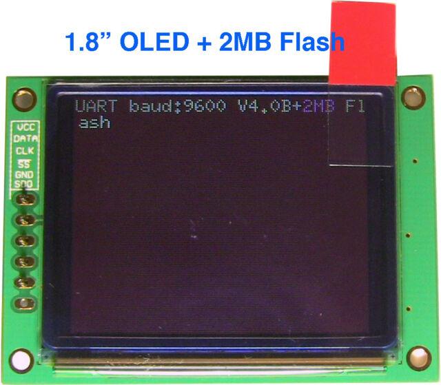 "1.8"" Serial:UART/I2C/SPI Color OLED 160x128 Display+2MB Flash Module Arduino+Lib"