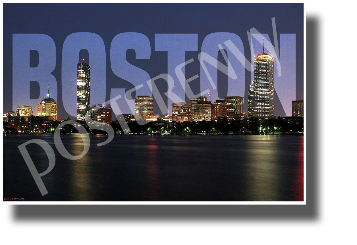 BOSTON Massachusetts Logan TWA Airlines 707 Boeing 777 Poster PinUp Art Print251