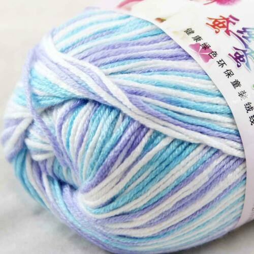 AIPYARN 4Skeinsx50g Soft Cashmere Silk Velvet Baby Hand Knitting Crochet Yarn 30