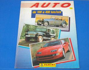 Album-Figurine-Panini-Auto-da-100-a-400-km-h-1991-Completo-a-meta-Perfetto