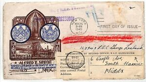 GéNéReuse Az406 1945 Usa New York Ide Raf Gloucester Gb Cover {samwells} Pts-}ptsfr-fr Afficher Le Titre D'origine Soulager La Chaleur Et La Soif.
