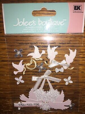8pc Jolees Boutique Wedding Cake Scrapbooking Stickers 939