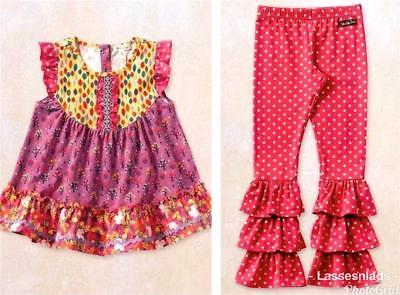 MATILDA JANE BONBON Bennys 12 Leggings Ruffled Mint Dot Girls Happy /& Free NWT