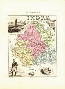 Carte du Département de l'INDRE - vers 1874-Migeon JPRX5sVk-09122013-994452285