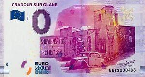 100% De Qualité Billet Euro Souvenir Oradour Sur Glane 2016 - N°1317 Pour Convenir à La Commodité Des Gens