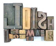 Letterpress Letter Wood Type Printers Block Lot Of 16 Typography Eb 53