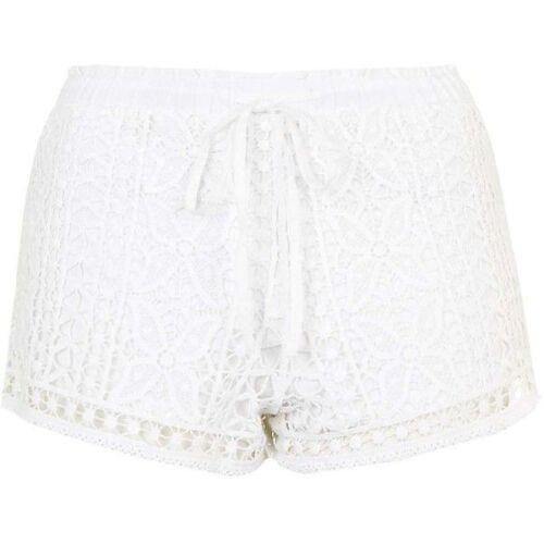 New Ladies EX topshop crochet shorts size 6 8 10 12
