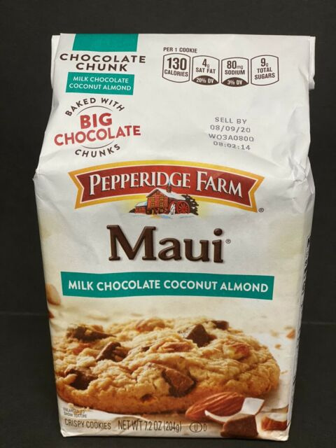 Pack Of 12 Pepperidge Farm Maui Milk Chocolate Coconut Almond Cookies 7 2 Oz For Sale Online Ebay