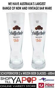 Schofferhofer-2-x-Fat-Weizen-Beer-Glasses-600ml-24cm-High-MAN-CAVE-BNWOB-GERMAN