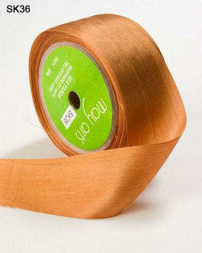 May Arts 100/% pura seda cinta 32mm-Precio Por Metro