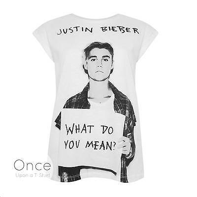 Primark Official Ladies JUSTIN BIEBER WHAT DO YOU MEAN T SHIRT