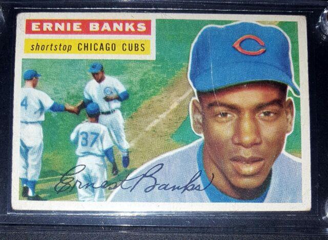 1956 Topps Ernie Banks Chicago Cubs 15 Baseball Card