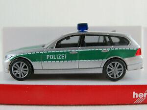 Herpa-046923-BMW-3er-Touring-034-POLIZEI-BMW-Prototyp-IAA-2005-034-1-87-H0-NEU-OVP
