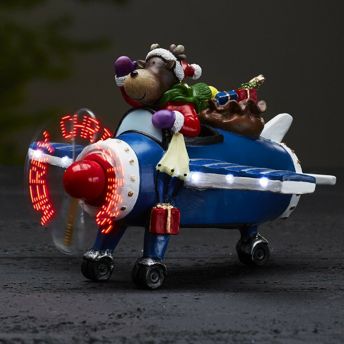 Led Batteria Batteria Batteria Motion Illuminazione Decorativa Statuina di Natale Kidsville Renna 63bbff