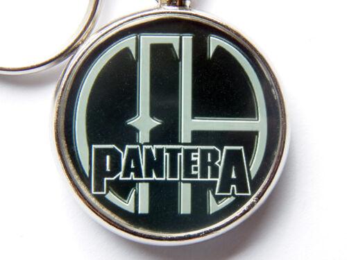 PANTERA Heavy Metal Band Chrome Keyring Picture Both Sides