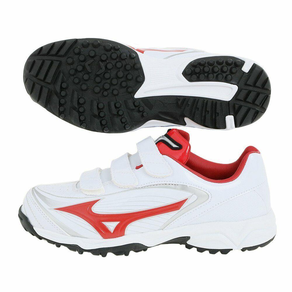 Zapatos de béisbol  de Mizuno seleccionar nueve entrenador CR 11GT1722 blancoo Rojo US8.5 (26.5cm)  tiempo libre