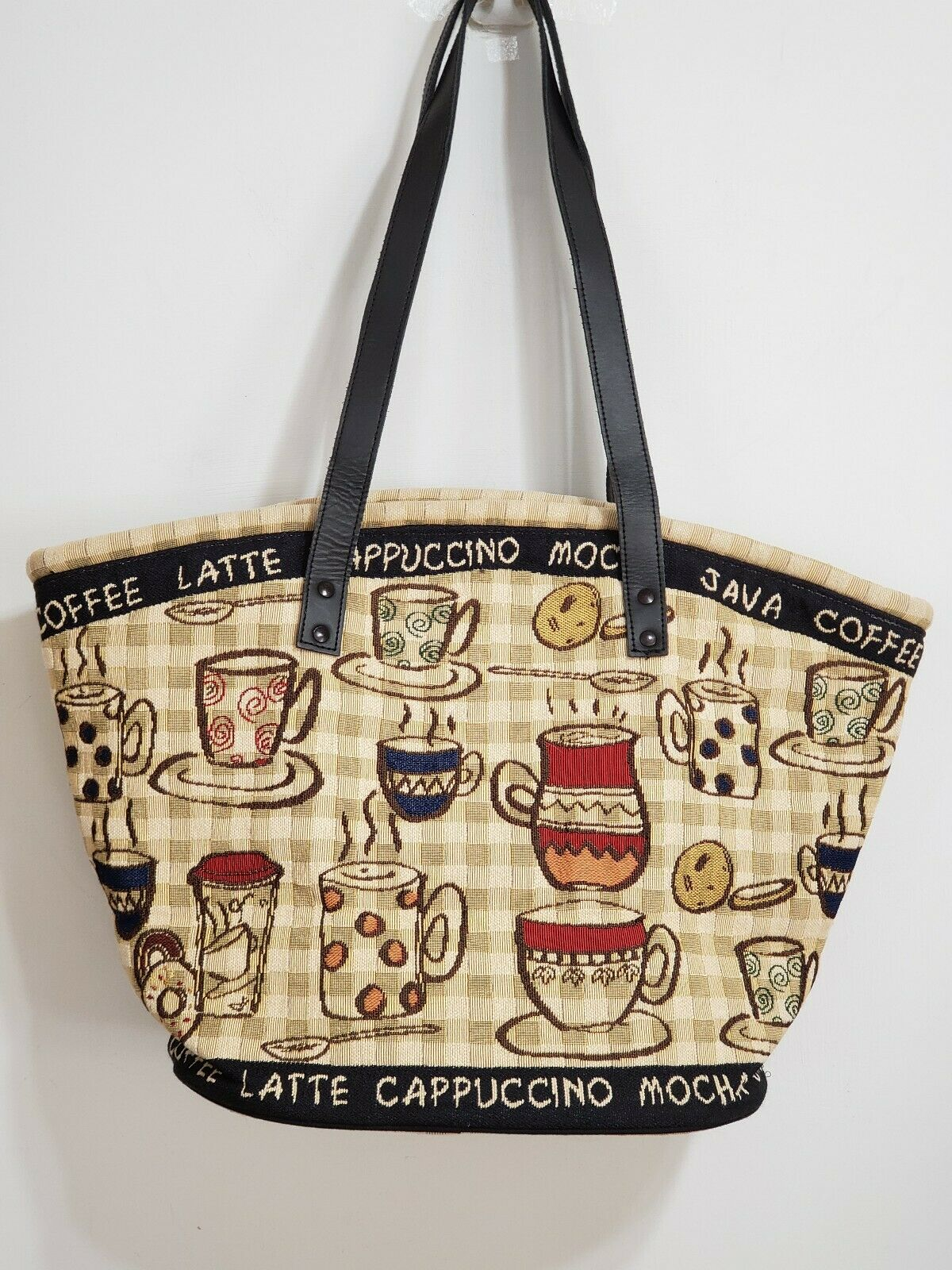 Park B. Smith Tapestry Rustic Cafe Multifunctional Large Tote Bag BNWT