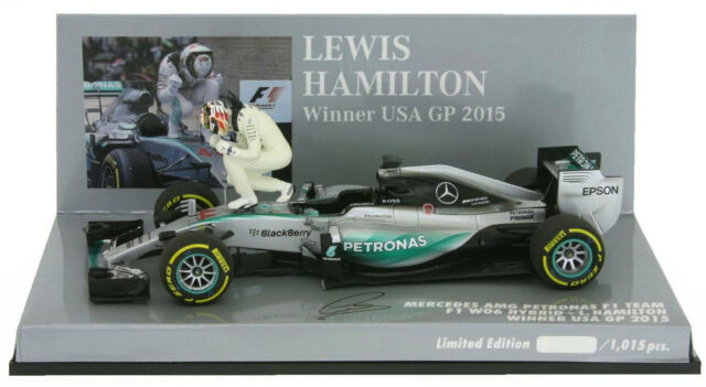 Minichamps Mercedes W06 Winner USA GP 2015 - Lewis Hamilton World Champion  1 43 ea2137dba80