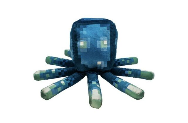 New 2020 MINECRAFT Earth Glow Squid 20in Pillow Glow In The Dark Plush NWT