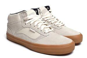 772897fa32346a Vans Cream Off White Bedford Canvas Suede Marsh Gum Sole Skate Shoes ...