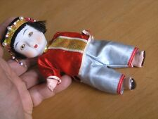 """Vintage Oriental Chinese Bisque Head Composition Body Hands Legs Doll Sleepy 6"""""""