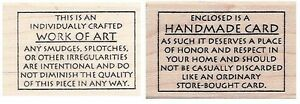 Judikins-Handmade-Card-Work-of-Art-Rubber-Stamp-Funny-Words-for-Back-of-Cards