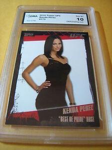"KENDA PEREZ 2010 TOPPS UFC ""BEST OF THE PRIDE"" HOST # 173 GRADED 10 L@@@K"