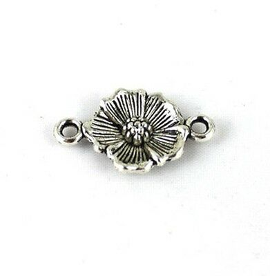 60PCS Tibetan Silver Flower Link Connectors FC13013