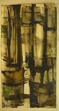 * Huile sur carton signée et dédicacée Georges Laporte Marine période abstraite
