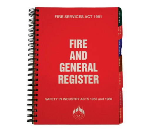 Fire And General Register Book